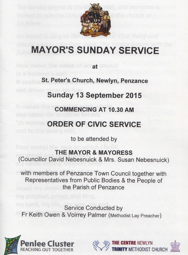 Mayors Sunday Service