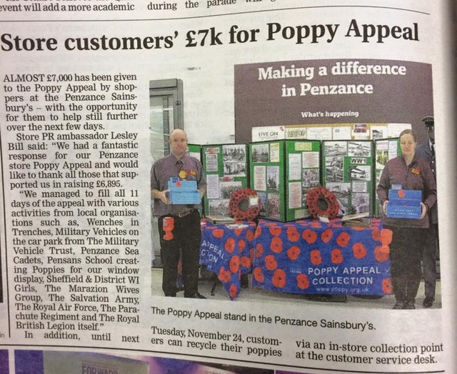 Sainsburys poppy appeal